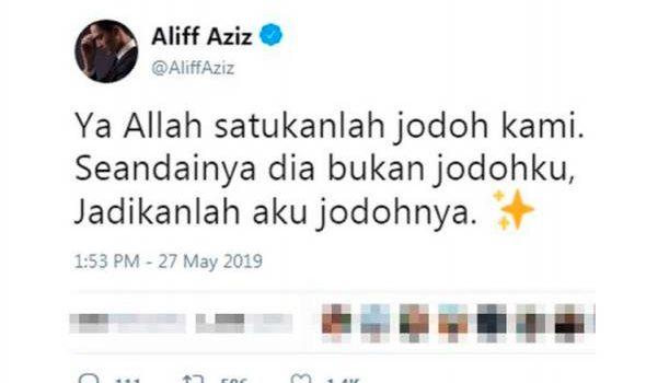 Baru 2 minggu bercerai, Aliff Aziz mahu rujuk semula dengan bekas isteri?