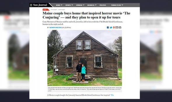 Selepas beli kediaman penggambaran The Conjuring, pasangan ini akui rumah itu berhantu!
