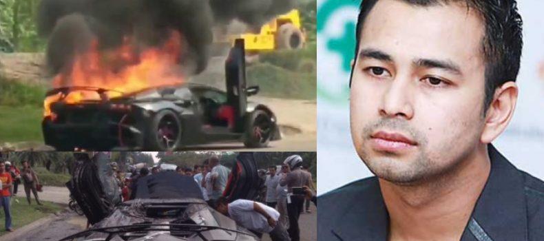 Selepas Lamborghini Batman RM5.6 juta terbakar, Raffi Ahmad umum berehat dari dunia seni