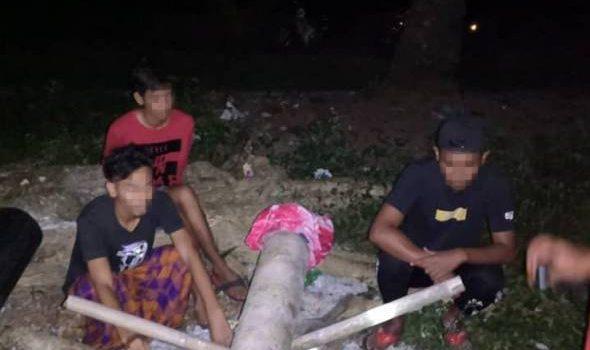 Main meriam karbaid ketika PKPB, tiga lelaki diberkas