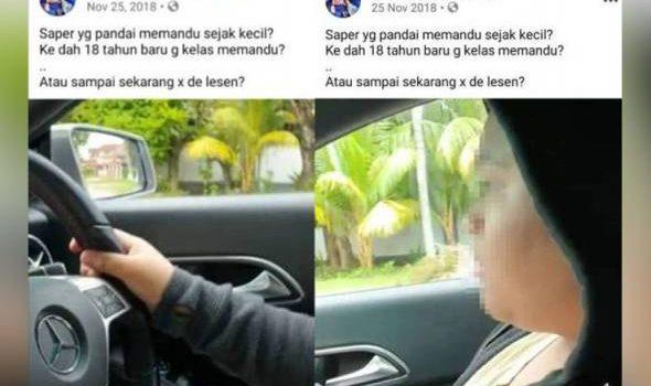Polis kesan remaja pandu kereta dalam Facebook Sayang-Sayang DSV