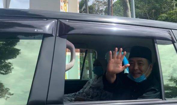 Hajiji tiba di Istana Negeri untuk Istiadat Angkat Sumpah